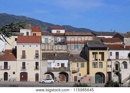 CORFINIO ITALY - SEPTEMBER 062015: View of the ancient town - Corfinio L'Aquila in the region of Abruzzo - Italy