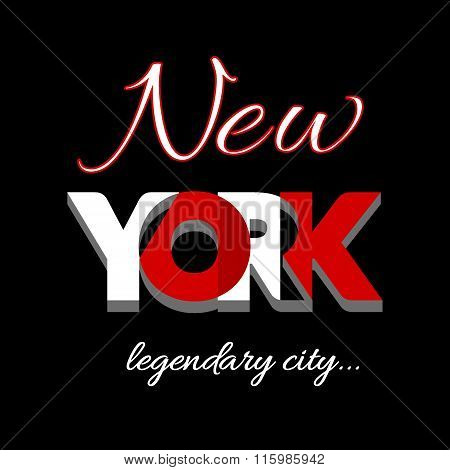 New York city Typography Graphic