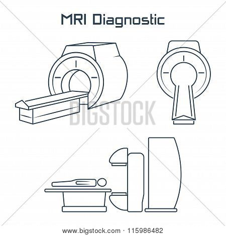 Mri Diagnostic Vector Icons.vector Symbols. Vector Illustration