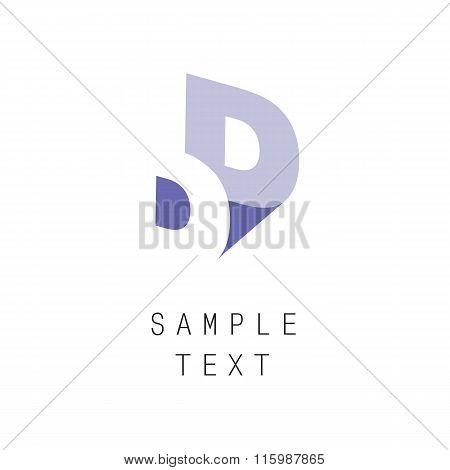 Double letter D icon