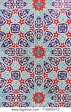 The Patterns On Glazed Tiles