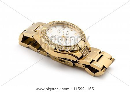 watch against white background