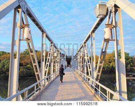 Tsukimi-bashi bridge in Okayama, Japan.