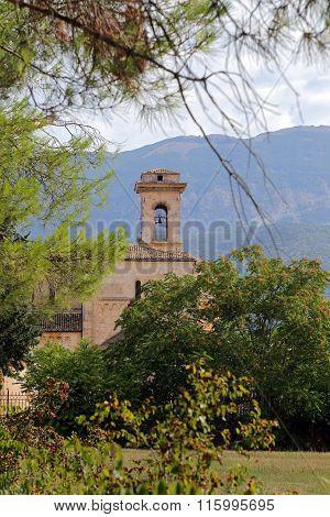 Corfinio, Italy - September 06,2015: View Of Basilica Valvense Of San Pelino In Corfinio, L'aquila,