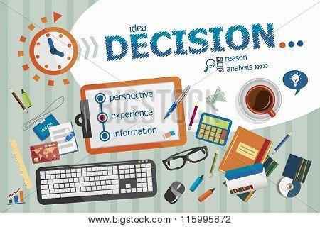 Decision Design Concept. Typographic Poster.