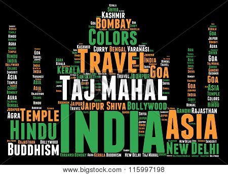 India word cloud concept