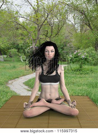 Lotus pose meditation outdoors