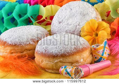 Berliner Donuts Doughnut or Krapfen Festive Decoration
