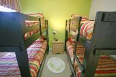 picture of bunk-bed  - A Bunk Bedroom Interior Shot of a Home