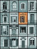 Unique Window - Architecture Collage poster