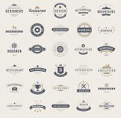 ������, ������: Vintage Logos Design Templates Set Vector design elements
