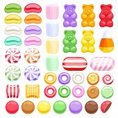 Постер, плакат: Set of different sweets Assorted candies