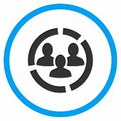 Demography Diagram Rounded Icon poster