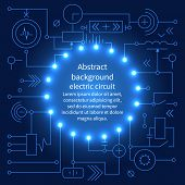 Постер, плакат: Abstract Technology Circuit Board