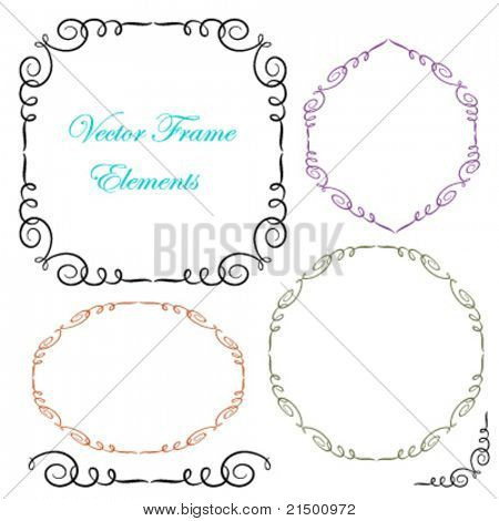 Calligraphy frame elements