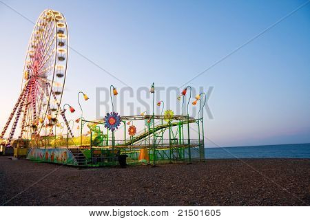 Ferris Wheel At The Ocean