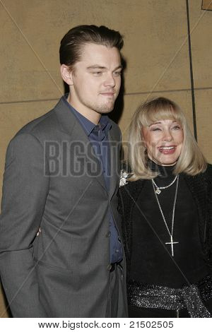 LOS ANGELES - DEC 2: Leonardo Dicaprio; Terry Moore at the Friends of NPI (National Neuropsychiatric Institute) screening of 'The Aviator' at the Egyptian Theatre - December 2, 2004 in Los Angeles, CA