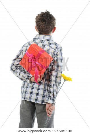 Retrato de menino emocionalmente.