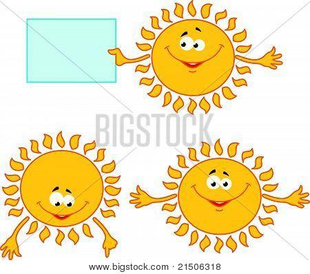 Vector set of sun mimic miens
