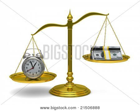 Time is money. Isolated 3D image
