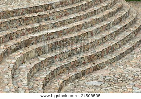 Curve Of Stone Stairs