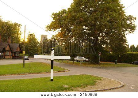 Blank Village Sign