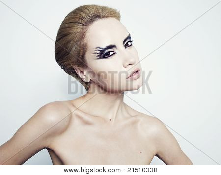 Beautiful Young Girl With Fantasy Makeup