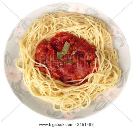 Aislados espagueti boloñesa