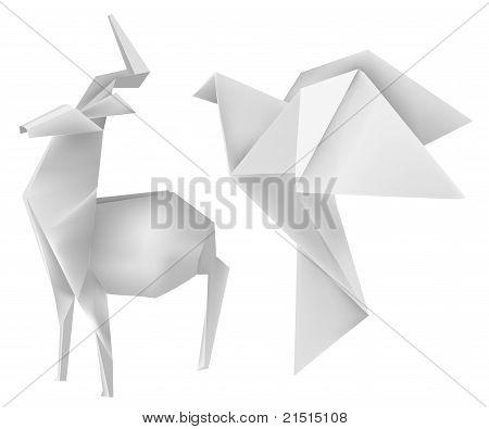 origami deer dove vector amp photo bigstock