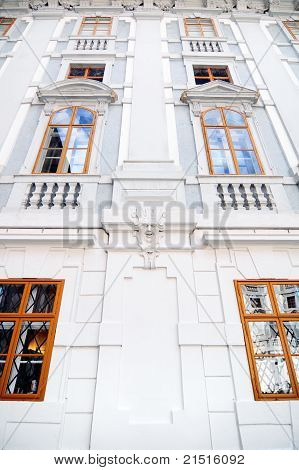 Historical building with windows in Eisenstadt