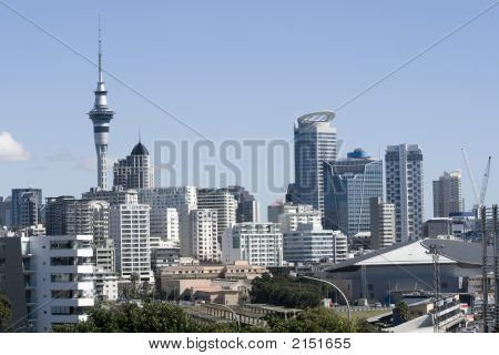 Auckland City Cbd Close Up