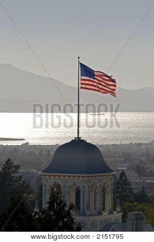 Flag Flying In Oakland