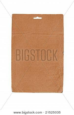 Single cardboard sheet