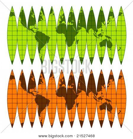 vector assembly globe of the meridian belts