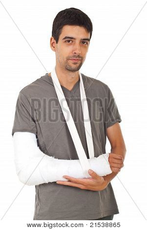 Portrait Of Man With Broken Hand