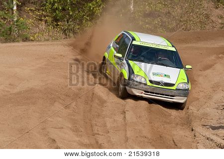 Rostov, Russia - September 05: Uriy Volkov Drives A Subaru Impreza  Car During Rostov Velikiy Russia