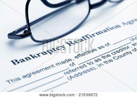 Bankruptsy Reaffirmation Agreement