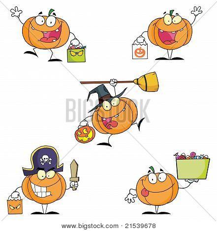 Pumpkin Cartoon Characters- Collection