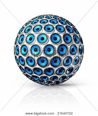 Blue Speakers Sphere