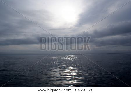 Gray Day on the Ocean