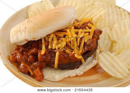 Hamburger Smoothered In Chili