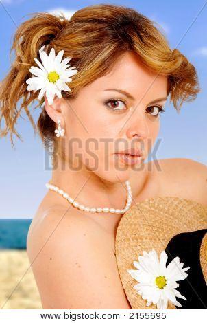 Strand Mädchen Portrait