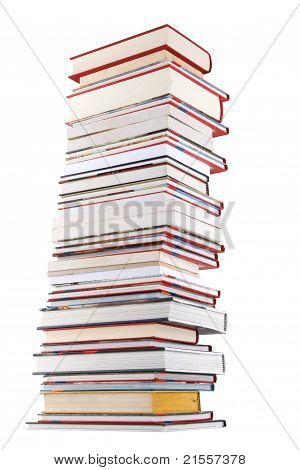 High Books Stack