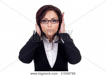 Woman Covering Her Ears