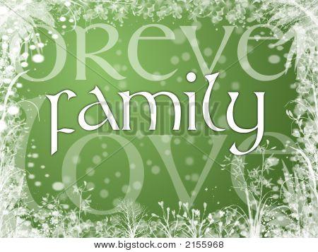 Family Rectangle Panel (Green)