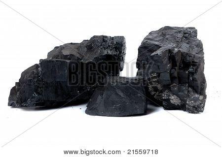 Trozos de carbón