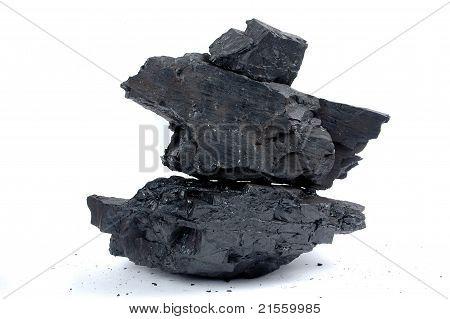 Trozos de la pila de carbón