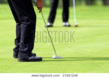 Putt On Golf Green