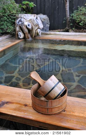 Japanese open air hot spa