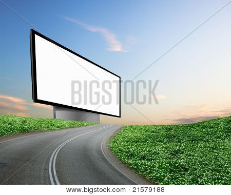 billboard on the road